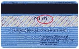 It is printed in the signature area of the back of the card. (it is the last 3 digits AFTER the credit card number in the signature area of the card ).